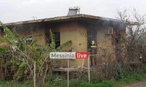 Φωτιά σε μονοκατοικία στα Σφαγεία
