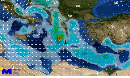 """Επιδείνωση του καιρού και στη Μεσσηνία-Έρχεται η κακοκαιρία """"Διδώ"""""""