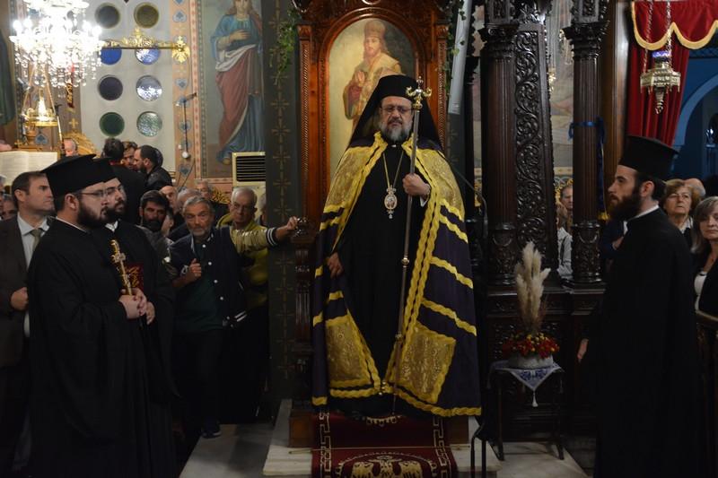 Αρχιερατικός Εσπερινός στην εκκλησία του Αγίου Νικολάου στην Καλαμάτα