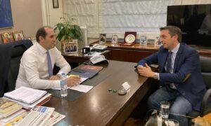 Συνάντηση Βεσυρόπουλου-Μαντά για την μείωση του κόστους διαχείρισης των απορριμμάτων