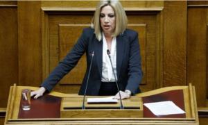 """Γεννηματά: """"Ο Μητσοτάκης φαντάζεται τζούφιες εκλογές με την απλή αναλογική-Μπορεί να είναι όμως η πρώτη αυταπάτη του"""""""